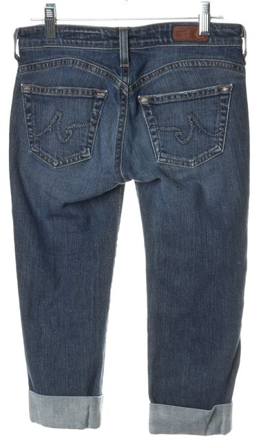 AG ADRIANO GOLDSCHMIED Blue Capri Jeans