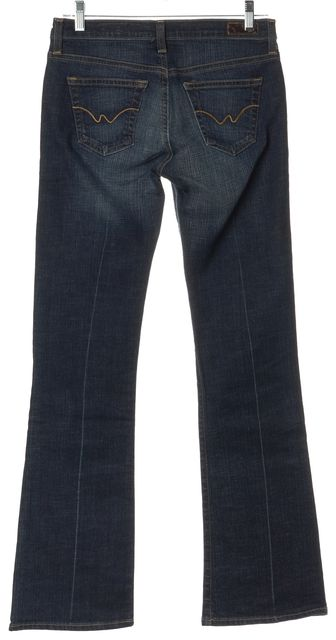 AG ADRIANO GOLDSCHMIED Blue The Angel Infinite Straight Leg Jeans