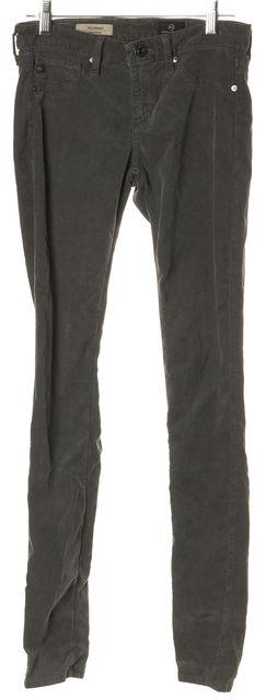 AG ADRIANO GOLDSCHMIED Dark Gray Corduroys Pants