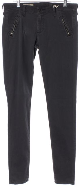 AG ADRIANO GOLDSCHMIED Gray The Willow Zip Pocket Skinny Leggings Pants