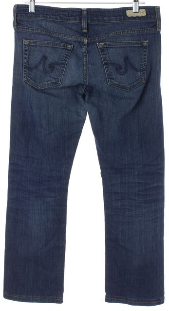 AG ADRIANO GOLDSCHMIED Blue Tomboy Relaxed Straight Leg Cropped Jeans