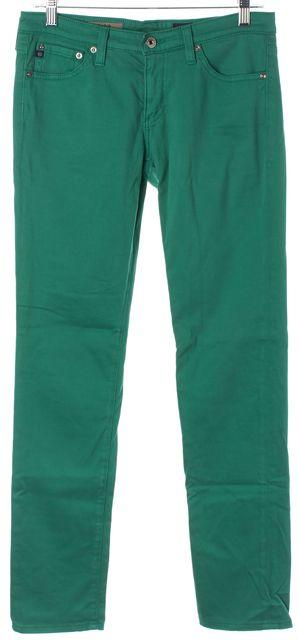 AG ADRIANO GOLDSCHMIED Green The Stilt Cigarette Skinny Jeans