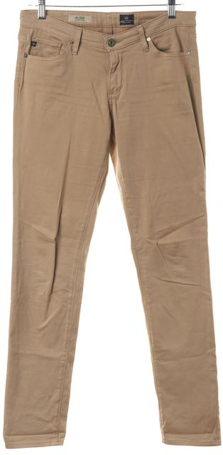 AG ADRIANO GOLDSCHMIED Beige The Stilt Cigarette Leg Skinny Jeans