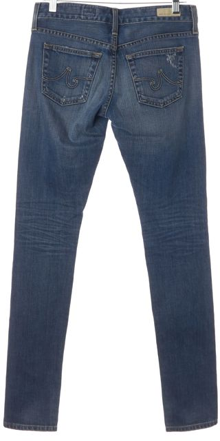 AG ADRIANO GOLDSCHMIED Blue Distressed Nikki Relaxed Skinny Jeans
