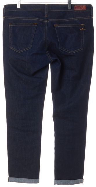 AG ADRIANO GOLDSCHMIED Blue The Stilt Roll-Up Cigarette Cropped Jeans