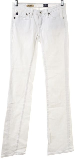 AG ADRIANO GOLDSCHMIED White The Angel Boot Cut Jeans