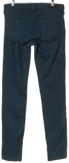 AG ADRIANO GOLDSCHMIED Teal Green The Stilt Jean Leggings Skinny Leg Pants