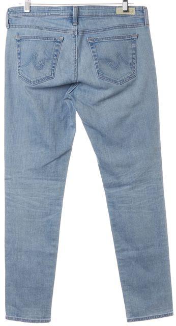 AG ADRIANO GOLDSCHMIED Blue The Stilt Cigarette Leg Straight Leg Jeans