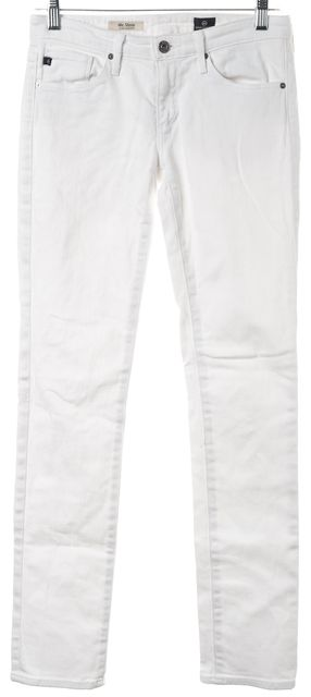 AG ADRIANO GOLDSCHMIED White Low Rise The Stevie Straight Slim Fit Jeans