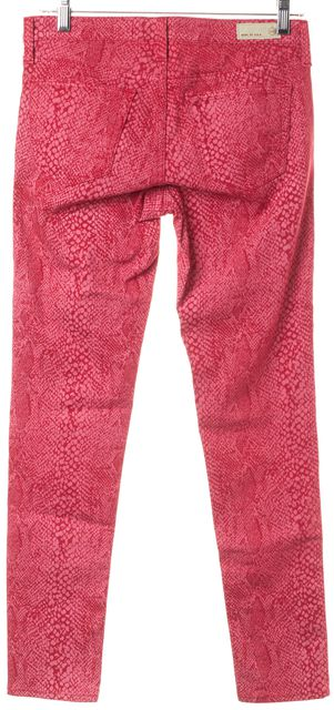 AG ADRIANO GOLDSCHMIED Raspberry Pink Snake Print Legging Jeans