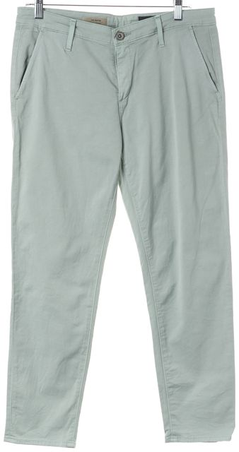 AG ADRIANO GOLDSCHMIED Green Stretch Cotton Tristan Tailored Trouser Pants