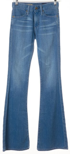 AG ADRIANO GOLDSCHMIED Light Wash Blue The Farrah Flare Jeans