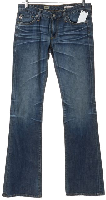 AG ADRIANO GOLDSCHMIED Blue Low Rise Angel Boot Cut Jeans