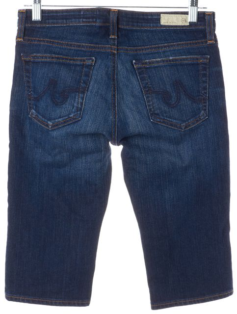 AG ADRIANO GOLDSCHMIED Blue Bermuda Length Shorts