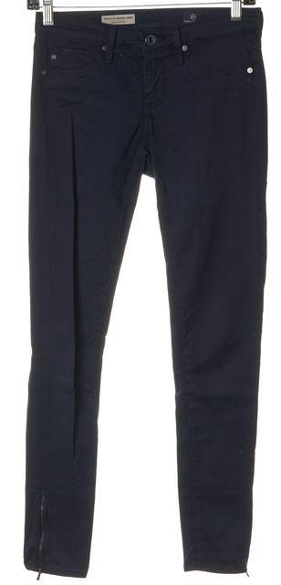 AG ADRIANO GOLDSCHMIED Navy Blue Skinny Ankle Zip Legging Pants