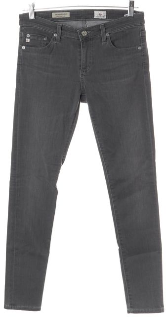 AG ADRIANO GOLDSCHMIED Gray Super Skinny Jeans