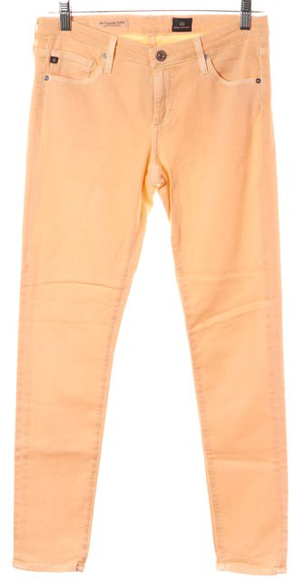 AG ADRIANO GOLDSCHMIED Peach Orange Skinny Jeans