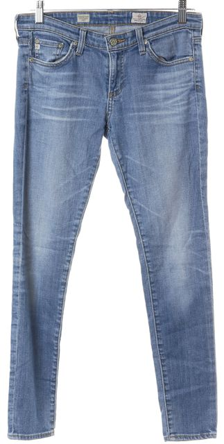 AG ADRIANO GOLDSCHMIED Blue Light Wash Skinny Jeans