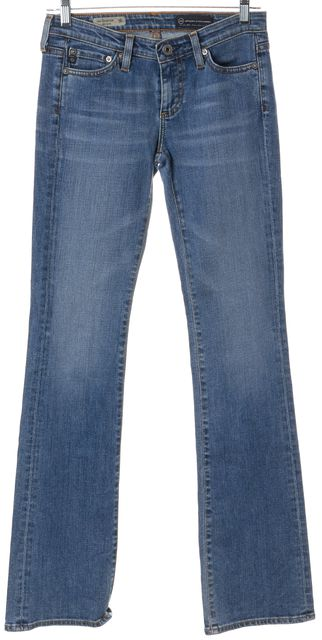 AG ADRIANO GOLDSCHMIED Blue Low Rise The Colette Slim Boot Cut Jeans