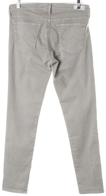 AG ADRIANO GOLDSCHMIED Gray The Legging Ankle Super Skinny Jeans