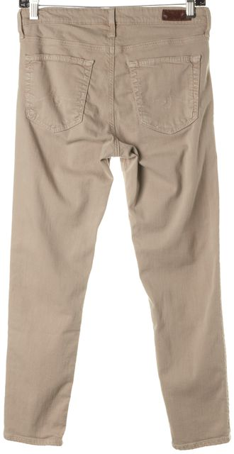 AG ADRIANO GOLDSCHMIED Beige The Prima Mid Rise Cigarette Cropped Jeans