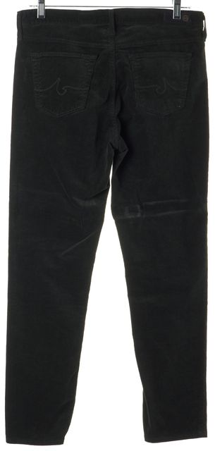 AG ADRIANO GOLDSCHMIED Green Stevie Slim Straight Ankle Corduroy Pants