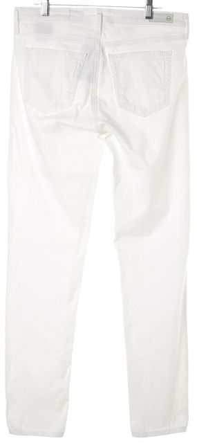 AG ADRIANO GOLDSCHMIED White Prima Mid-Rise Cigarette Skinny Jeans