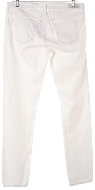 AG ADRIANO GOLDSCHMIED White Stretch Cotton Skinny Jeans