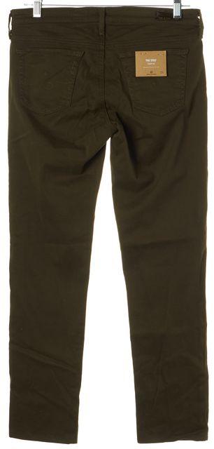 AG ADRIANO GOLDSCHMIED Green The Slilt Cigarette Leg Leggings Pants
