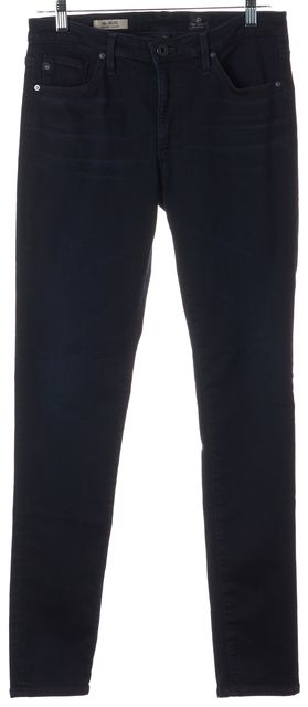 AG ADRIANO GOLDSCHMIED Blue The Middi Mid-Rise Leggings Jeans