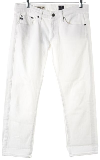 AG ADRIANO GOLDSCHMIED White The Tomboy Crop Cropped Jeans