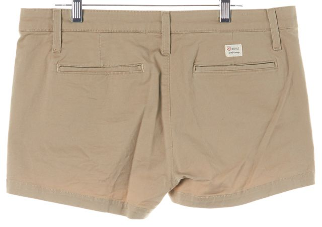 AG ADRIANO GOLDSCHMIED Beige Pixie Khaki Shorts
