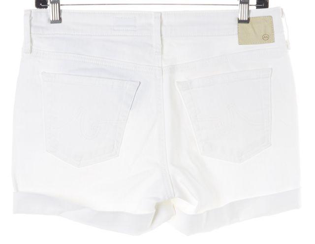 AG ADRIANO GOLDSCHMIED White Hailey Ex-Boyfriend Roll Up Denim Shorts