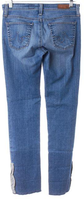 AG ADRIANO GOLDSCHMIED Blue Premiere Cuff Crop Skinny Jeans