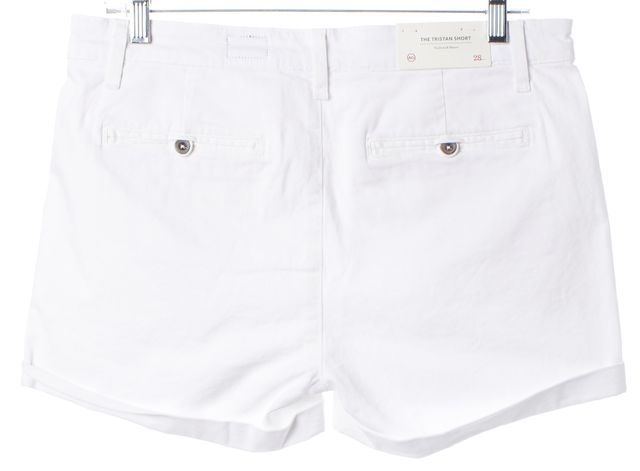 AG ADRIANO GOLDSCHMIED White The Tristan Tailored Casual Shorts