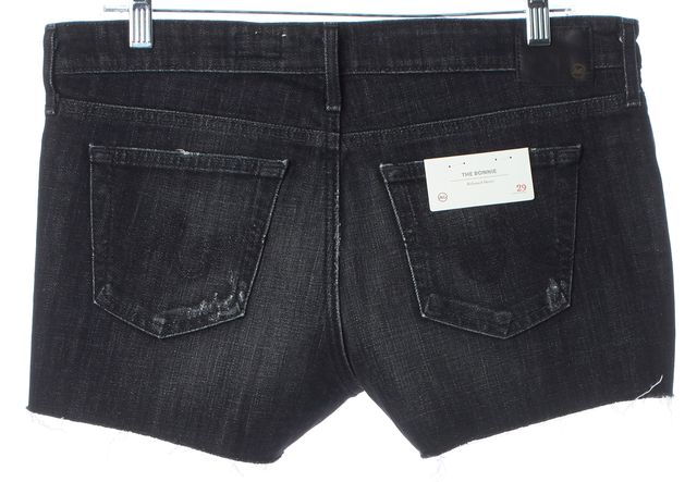 AG ADRIANO GOLDSCHMIED Black The Bonnie Relaxed Denim Shorts
