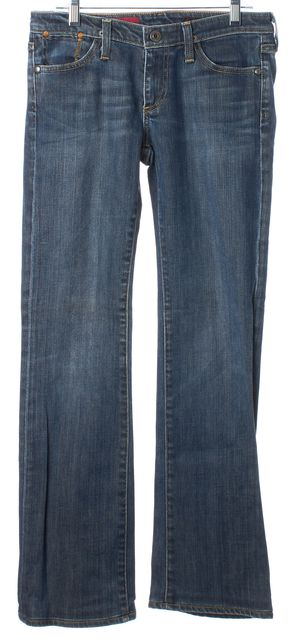 AG ADRIANO GOLDSCHMIED Blue Medium Wash The Kiss Straight Leg Jeans