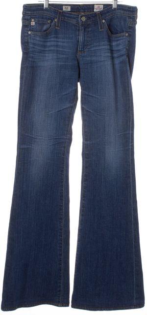 AG ADRIANO GOLDSCHMIED Blue Medium Wash Denim Belle Flare Leg Jeans