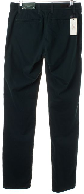 AG ADRIANO GOLDSCHMIED Dark Forrest Green Straight Slim Khaki Pants