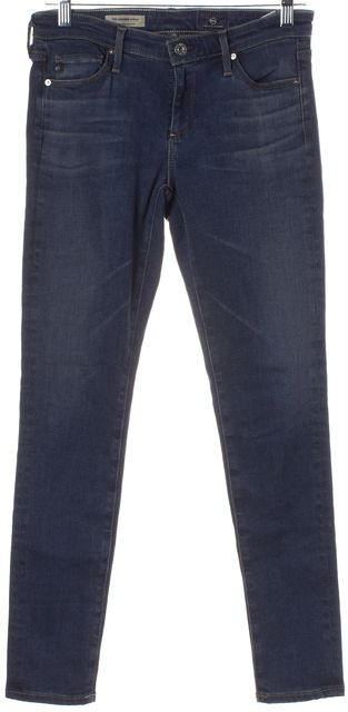 AG ADRIANO GOLDSCHMIED Blue Stretch Super Skinny Ankle Leggings Jeans