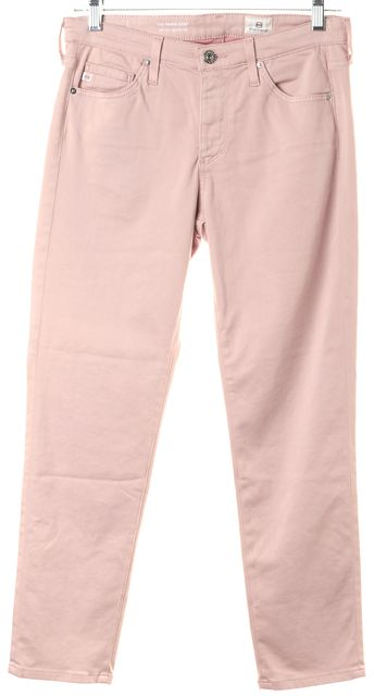 AG ADRIANO GOLDSCHMIED Pink Prima Mid-Rise Cigarette Skinny Pants