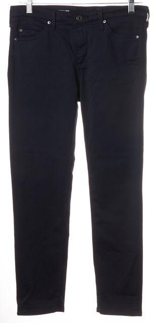 AG ADRIANO GOLDSCHMIED Blue Prima Mid-Rise Cigarette Crop Pants