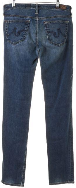 AG ADRIANO GOLDSCHMIED Blue Stevie Slim Straight Leg Jeans