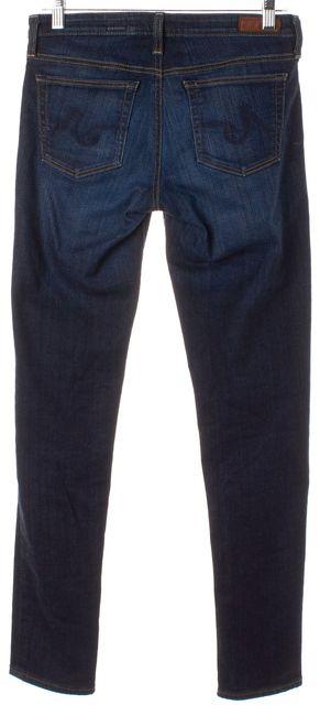 AG ADRIANO GOLDSCHMIED Dark Navy Blue Stilt Cigarette Leg Skinny Jeans