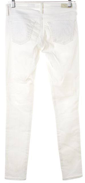 AG ADRIANO GOLDSCHMIED White Distressed The Legging Skinny Ankle Jeans