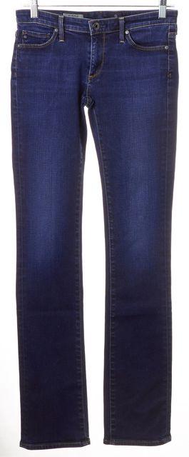 AG ADRIANO GOLDSCHMIED Blue Dark Wash The Ballad Slim Boot Cut Jeans
