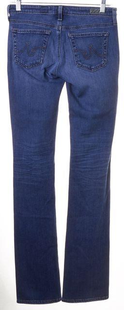 AG ADRIANO GOLDSCHMIED Blue Medium Wash Ballad Slim Boot Cut Jeans