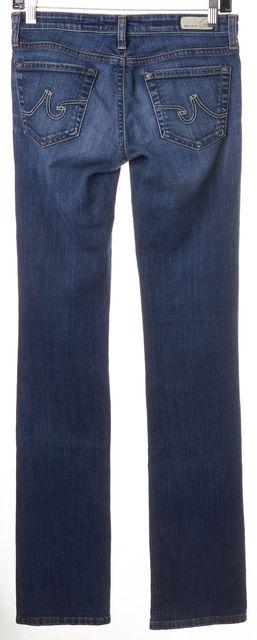 AG ADRIANO GOLDSCHMIED Blue Medium Wash Denim Ballad Slim Boot Cut Jeans