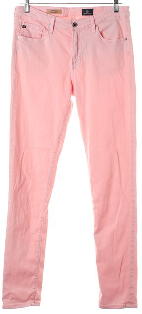 AG ADRIANO GOLDSCHMIED Pastel Pink The Prima Mid-Rise Cigarette Jeans