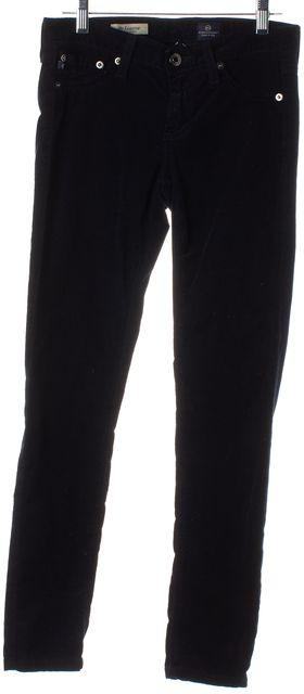 AG ADRIANO GOLDSCHMIED Dark Navy Blue The Legging Skinny Corduroy Pants